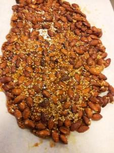 Karamelliserede mandler - Pastéli