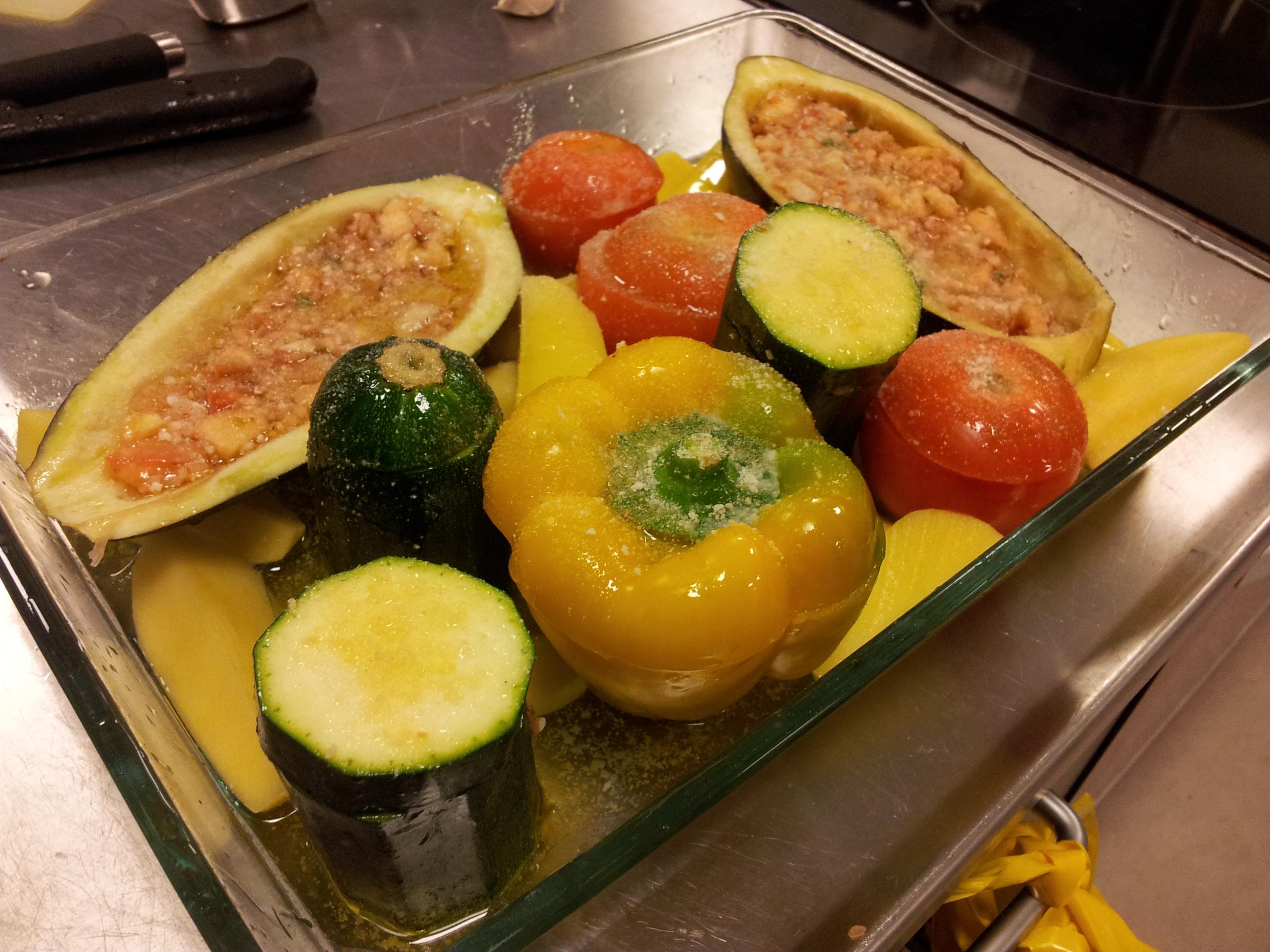 bagte grønsager - Gemistá