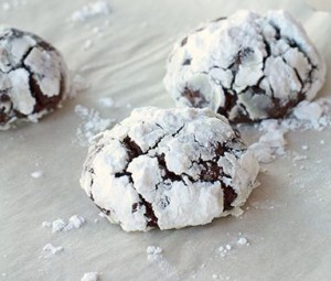 Chokolade Crackle Cookies
