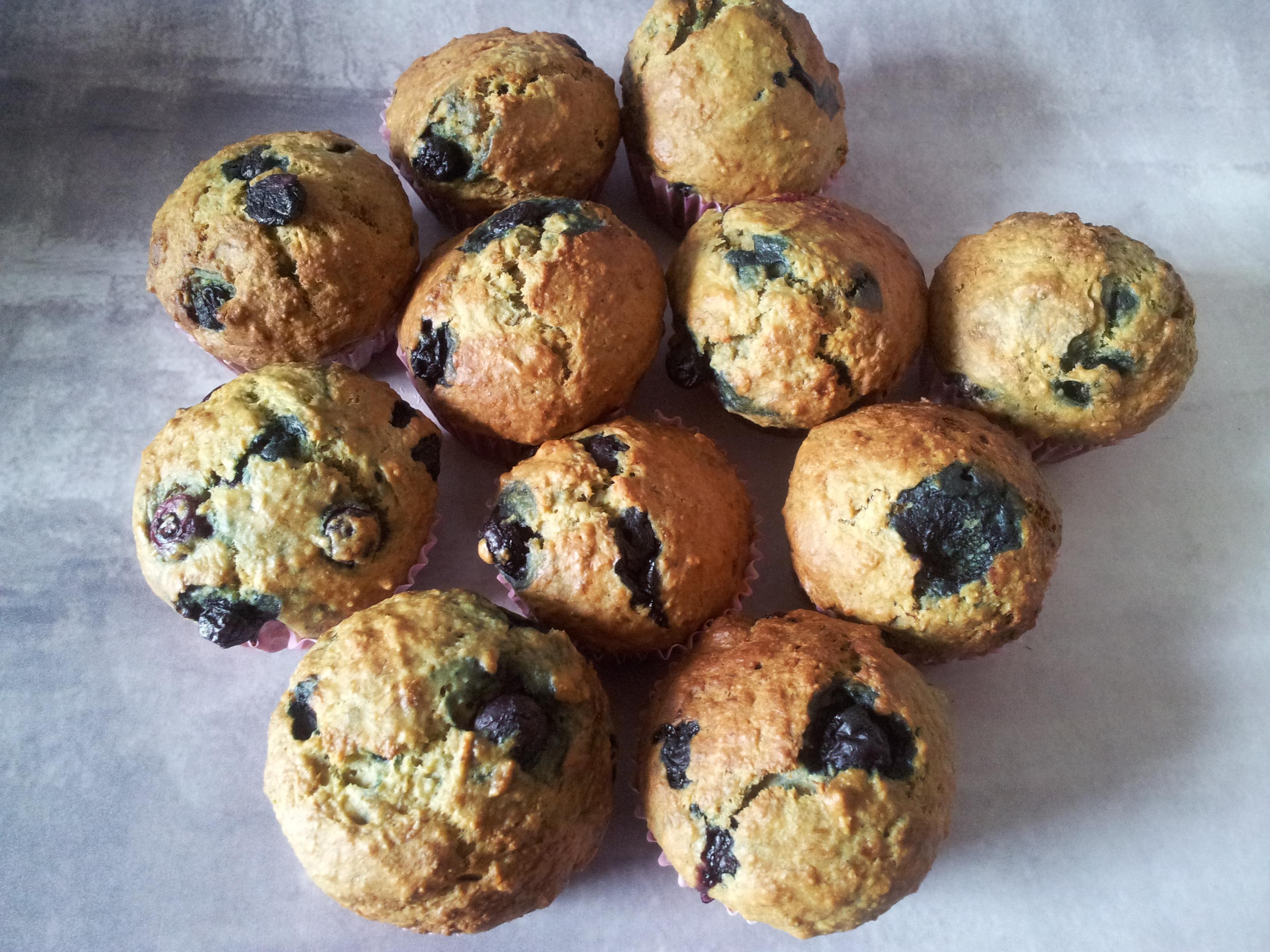 Næsten Sund Kage Bananblåbær Muffins Dahls Delicious Dahl